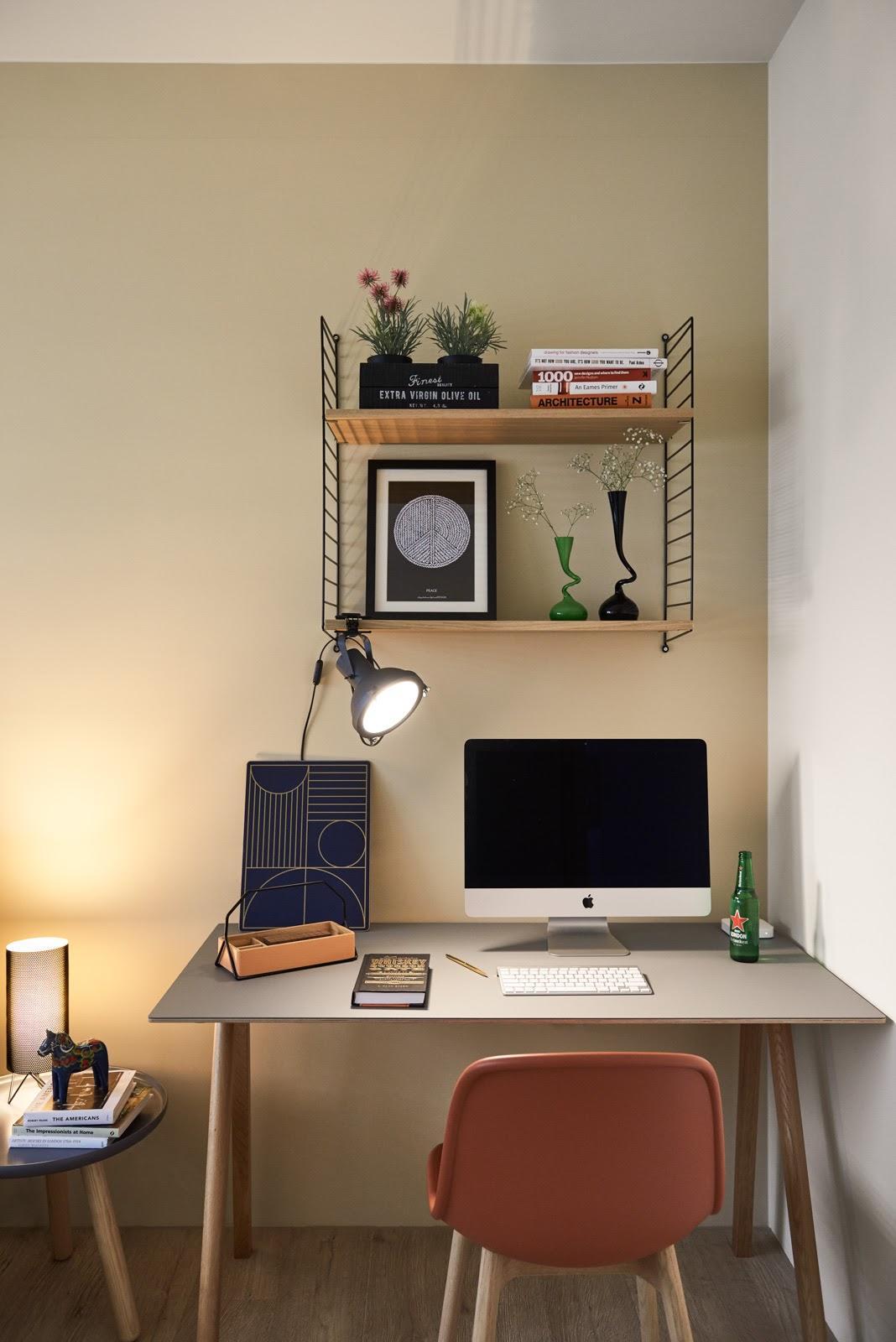 大户型北欧风格装修书桌设计效果图