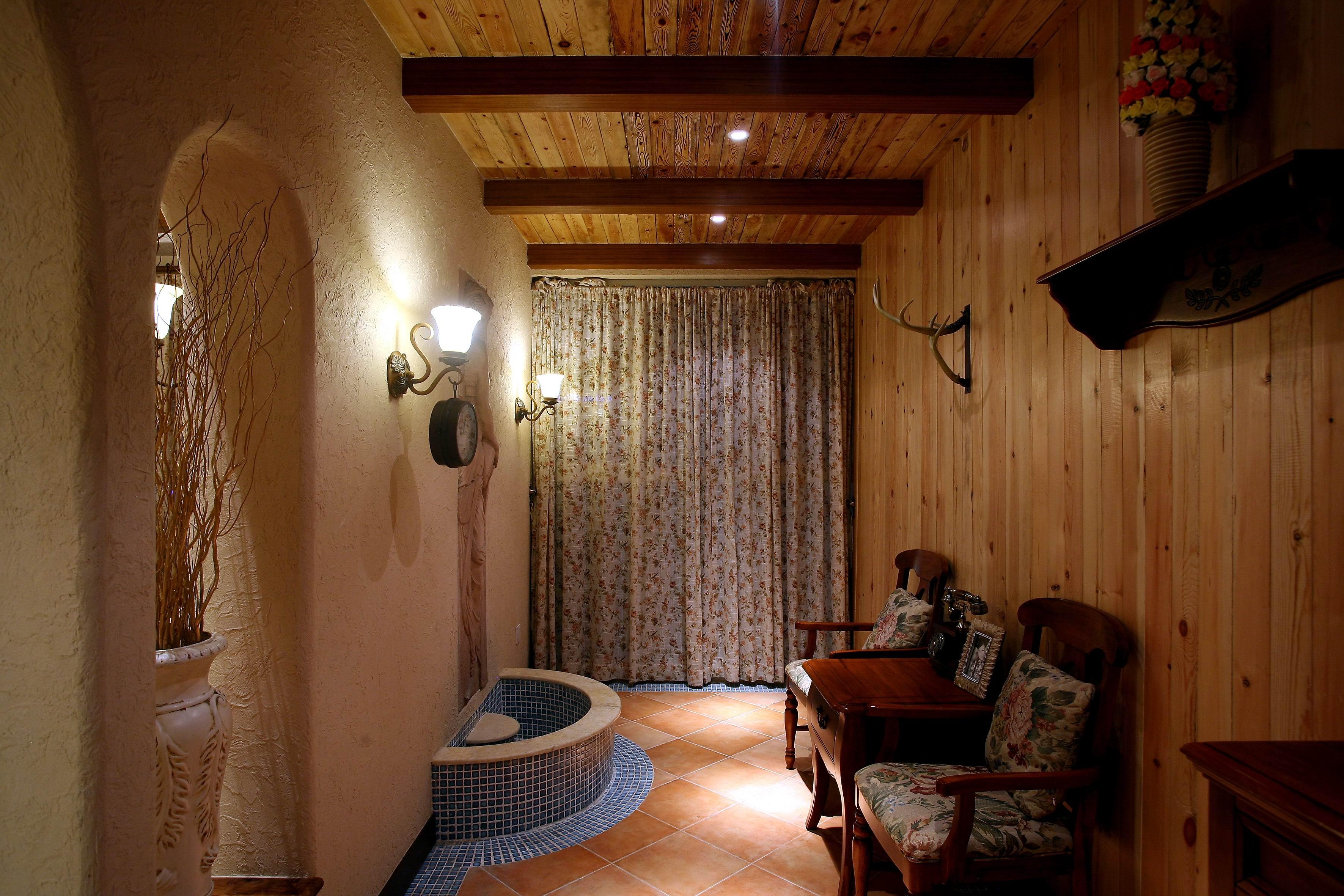 地中海混搭三居休闲室装修效果图