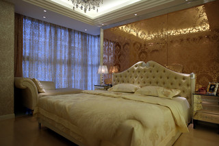 欧式风格三居卧室装修效果图