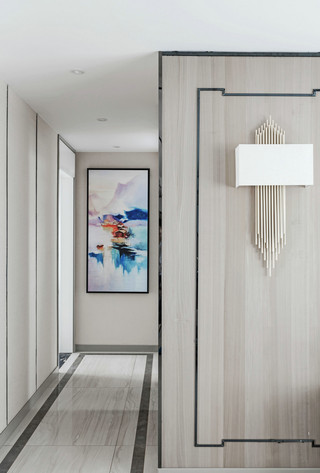 大户型现代混搭走廊装修设计效果图