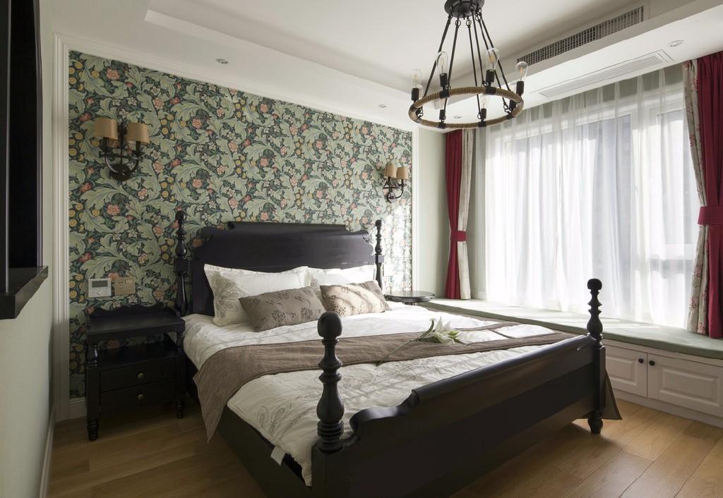 三居室简美风格卧室装修效果图
