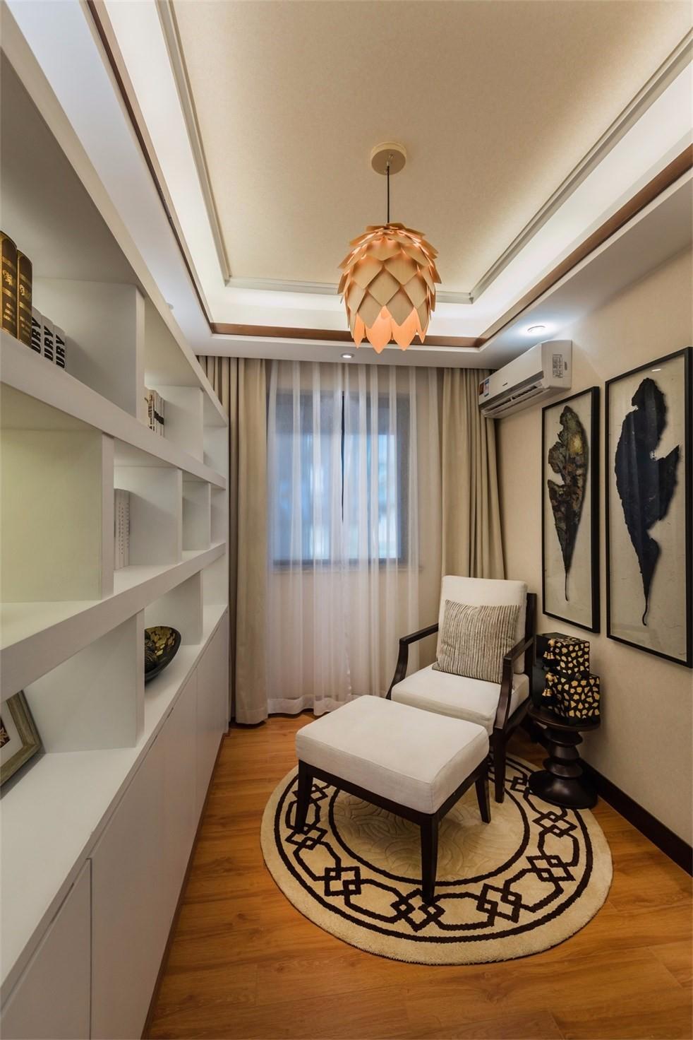 三居室新中式风格书房装修效果图