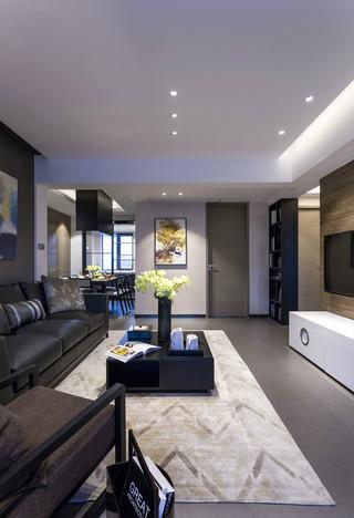 黑白灰现代风客厅装修效果图