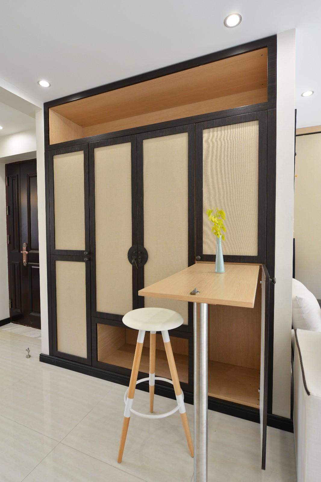120平米新中式装修吧台设计图