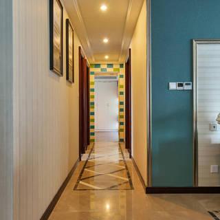 大户型美式混搭风格走廊装修效果图