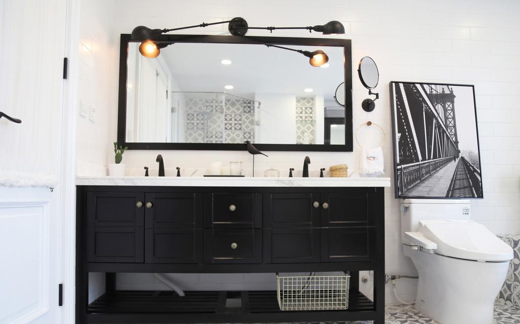简约北欧风格装修浴室柜设计图