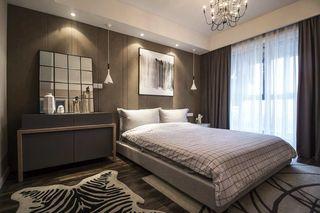 灰色调现代风二居卧室装修效果图