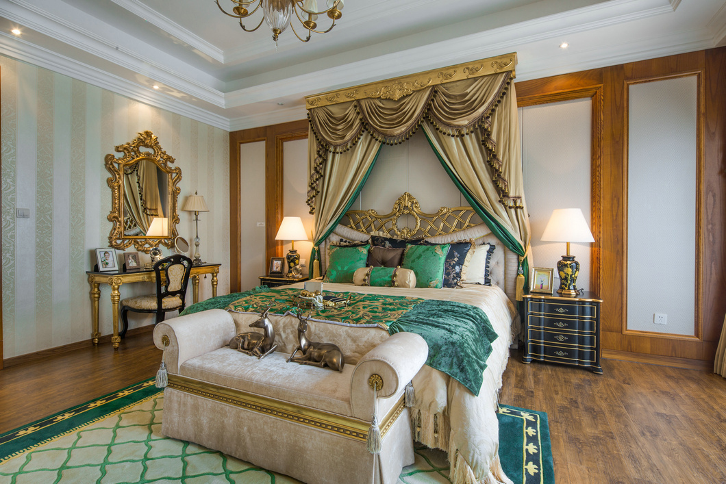 新古典混搭风格别墅卧室装修效果图