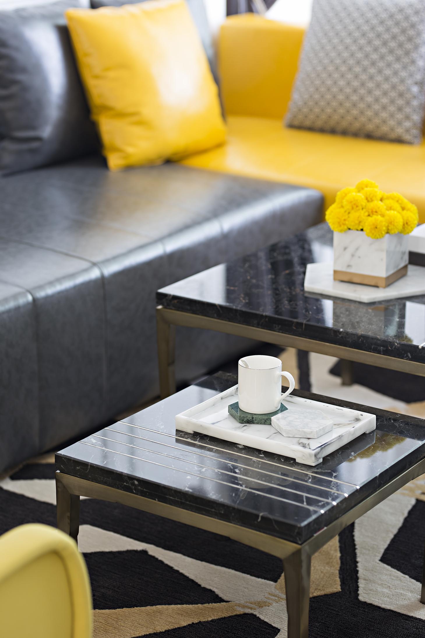 时尚摩登样板房装修茶几设计图