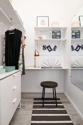 40平米白色公寓书房装修效果图