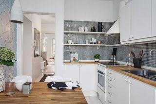 40平米白色公寓厨房装修效果图