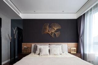 现代简约轻奢风卧室背景墙装修效果图