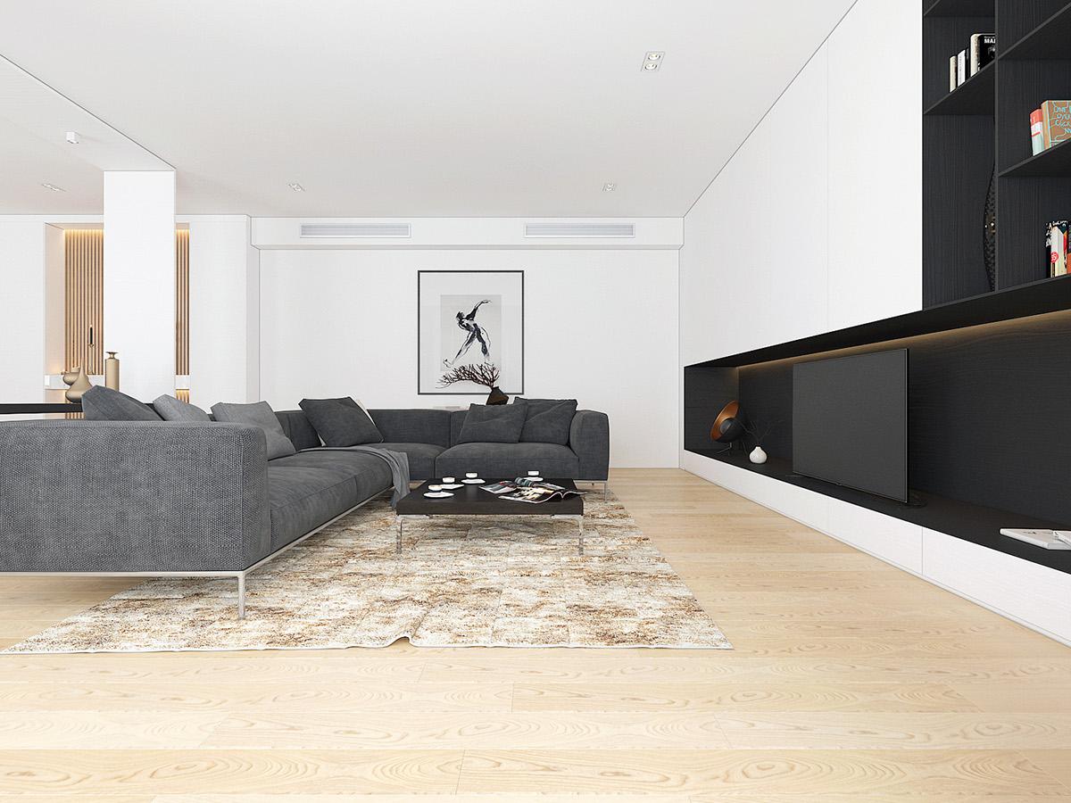 大户型简约风格客厅装修效果图