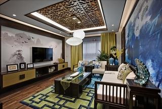 三居室中式风格客厅国国内清清草原免费视频