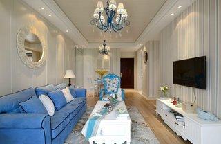 三居室地中海风格客厅装修效果图