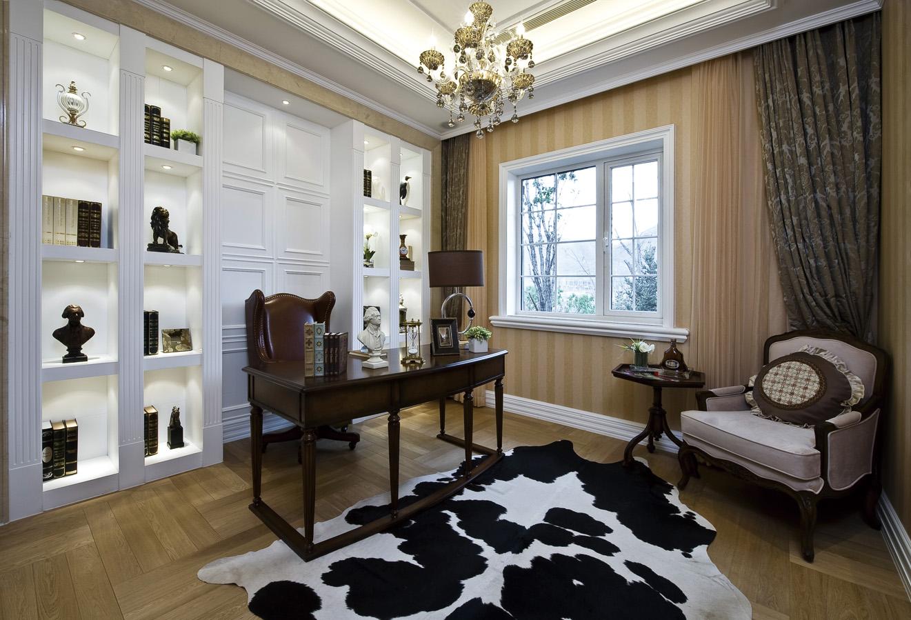 大户型奢华欧式风格书房装修效果图