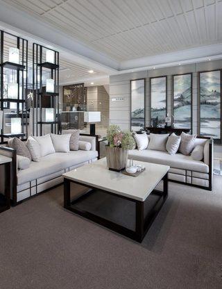 中式风格别墅客厅装修效果图