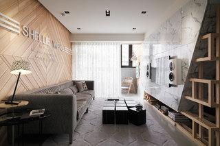 132㎡现代风格客厅装修效果图