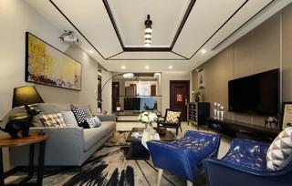 126㎡现代简约风格客厅装修效果图