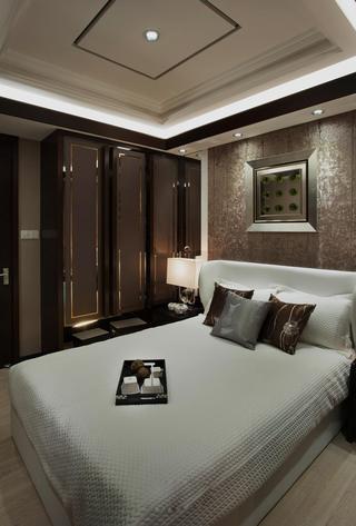 105㎡中式混搭三居卧室装修效果图