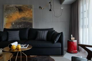 高级灰现代风两居装修沙发设计图