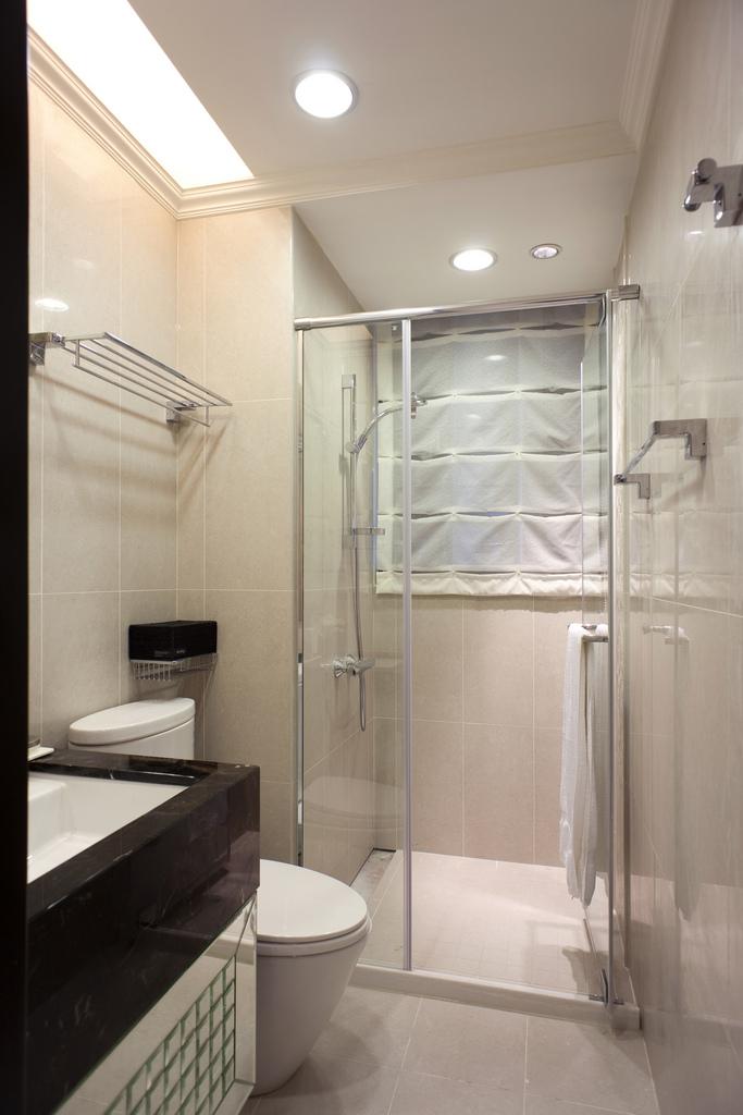 新古典风格样板房卫生间装修效果图
