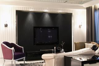 新古典风格样板间电视背景墙装修效果图