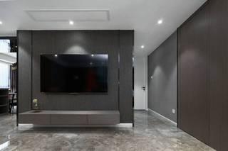 145平时尚现代风电视背景墙装修效果图