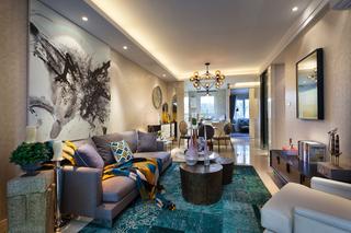89㎡混搭风格二居客厅装修效果图