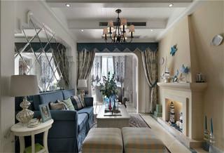 地中海风格两居室客厅装修效果图