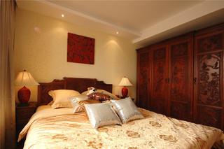 105平现代中式卧室装修效果图