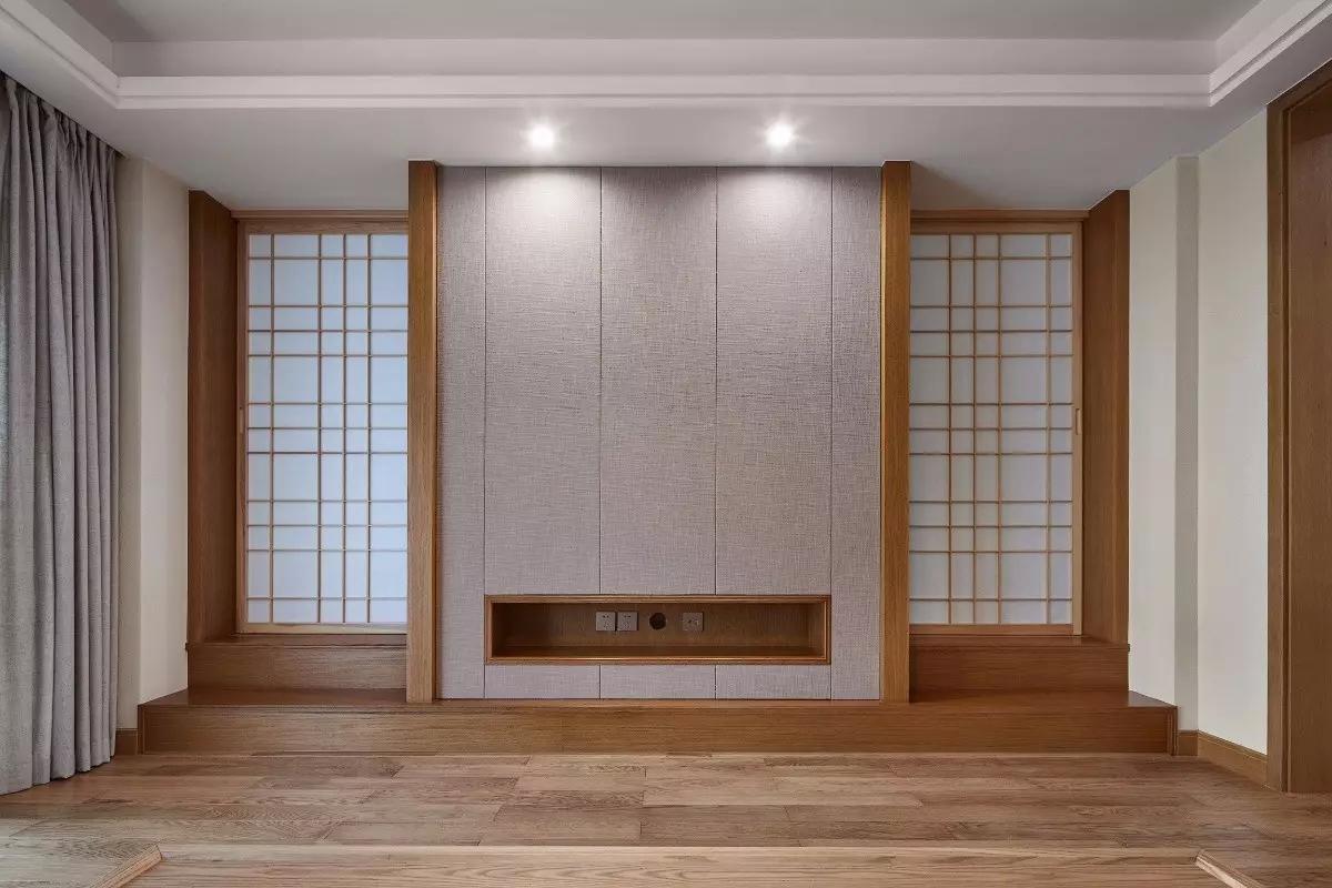 135平日式风格电视背景墙装修效果图