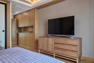 135平日式风格装修电视柜设计图