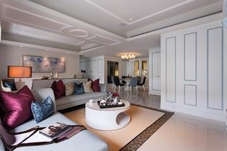 现代古典混搭三居装修效果图