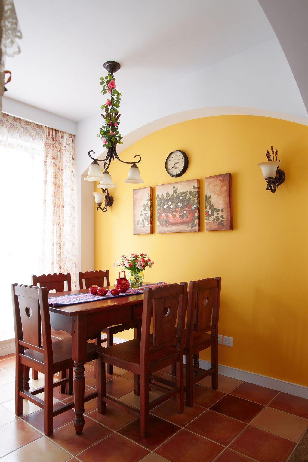 田园风格两居室餐厅装修效果图