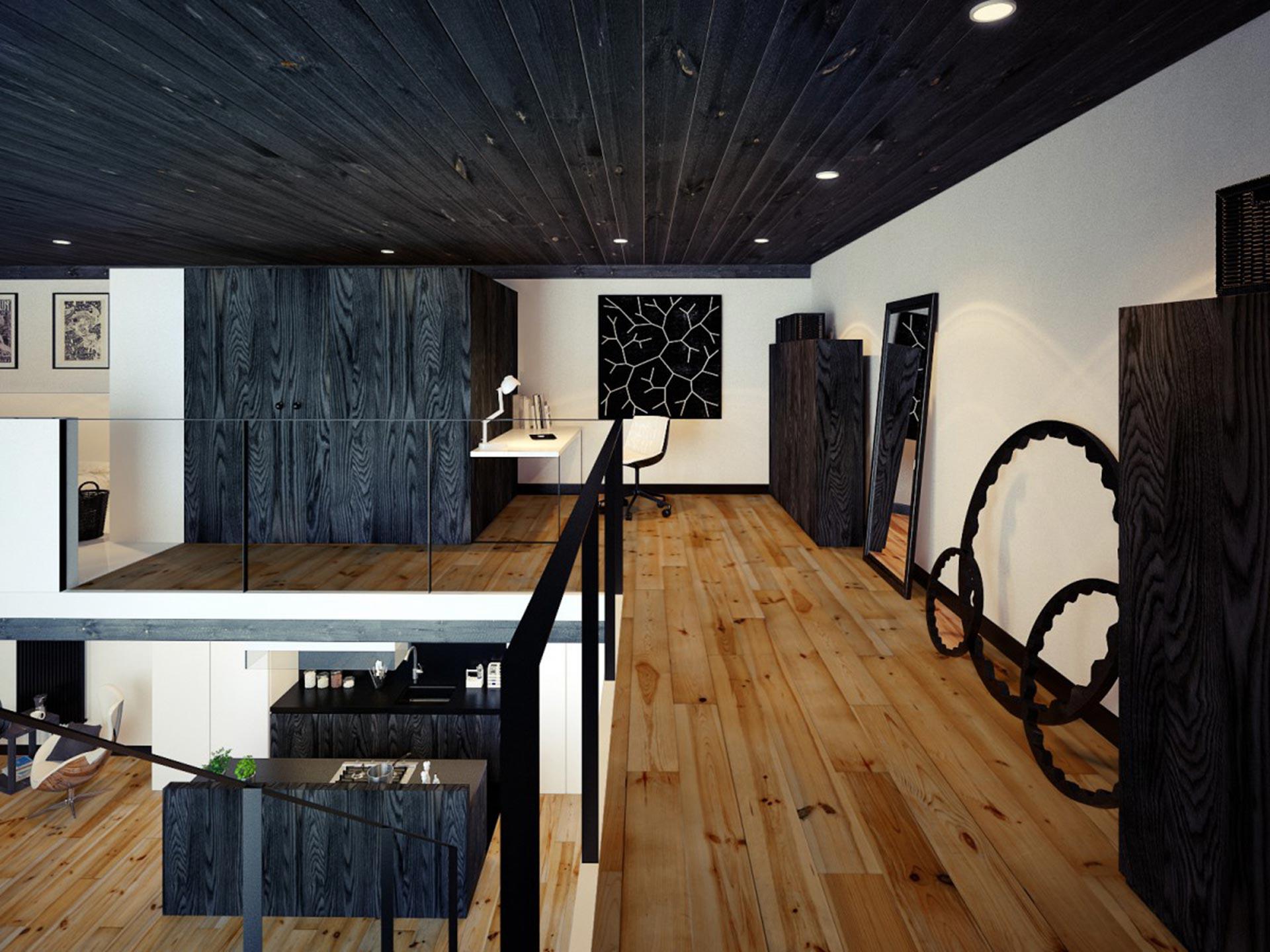 LOFT公寓走廊装修效果图