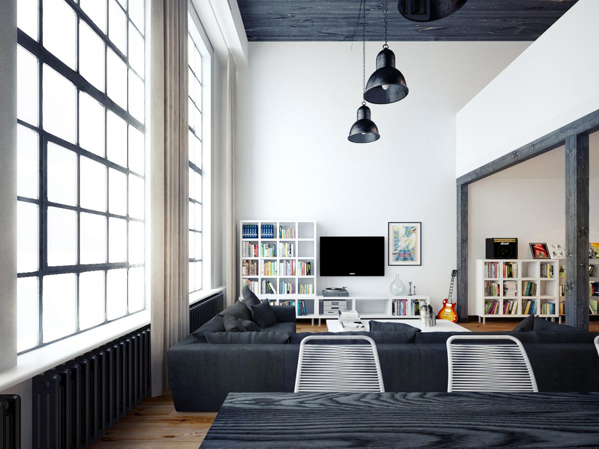 LOFT公寓客厅装修效果图