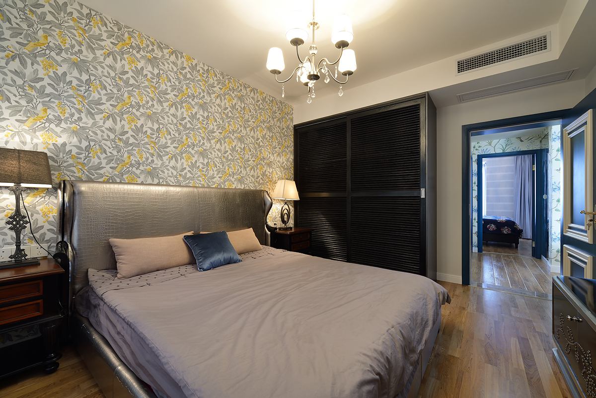 简美风格三居卧室装修效果图