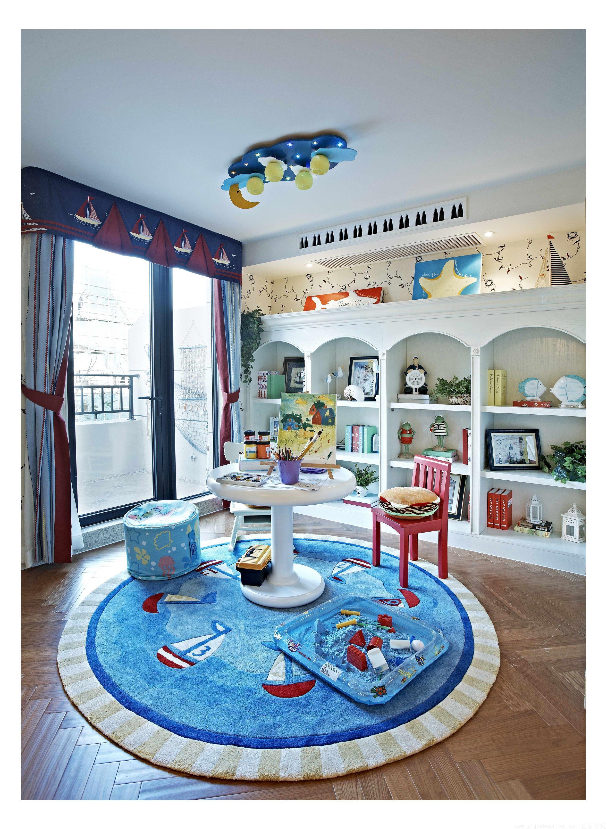 复式地中海风格儿童娱乐区装修效果图