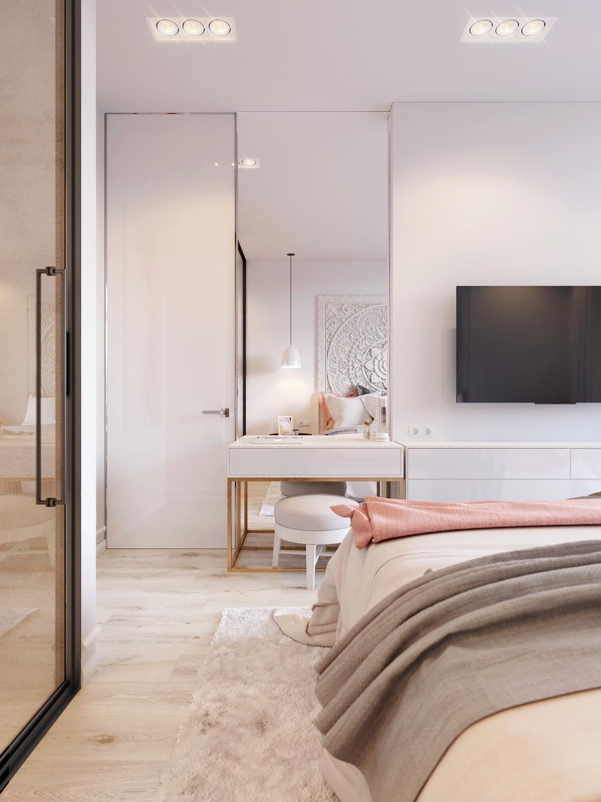 简约时尚公寓装修梳妆台设计图