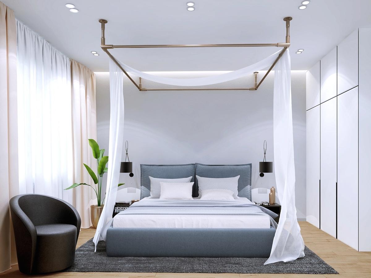 85平简约风公寓卧室装修效果图