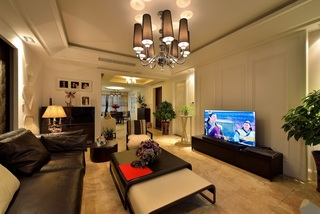 三居室现代混搭电视背景墙装修效果图