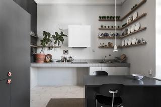 102平灰色公寓厨房装修效果图