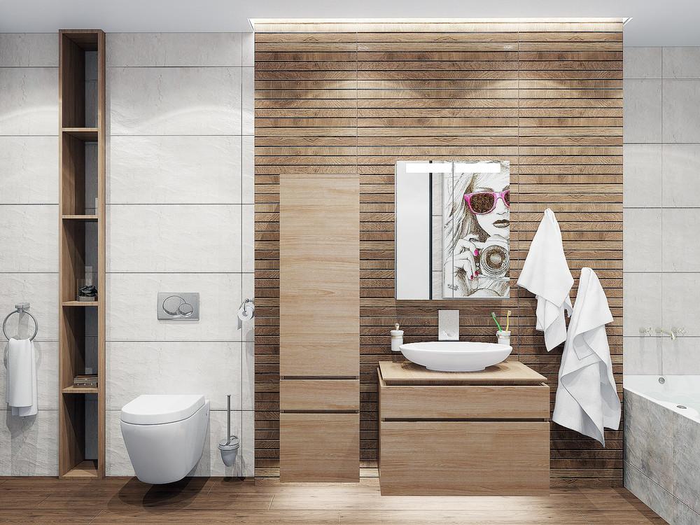 工业风公寓卫生间装修效果图