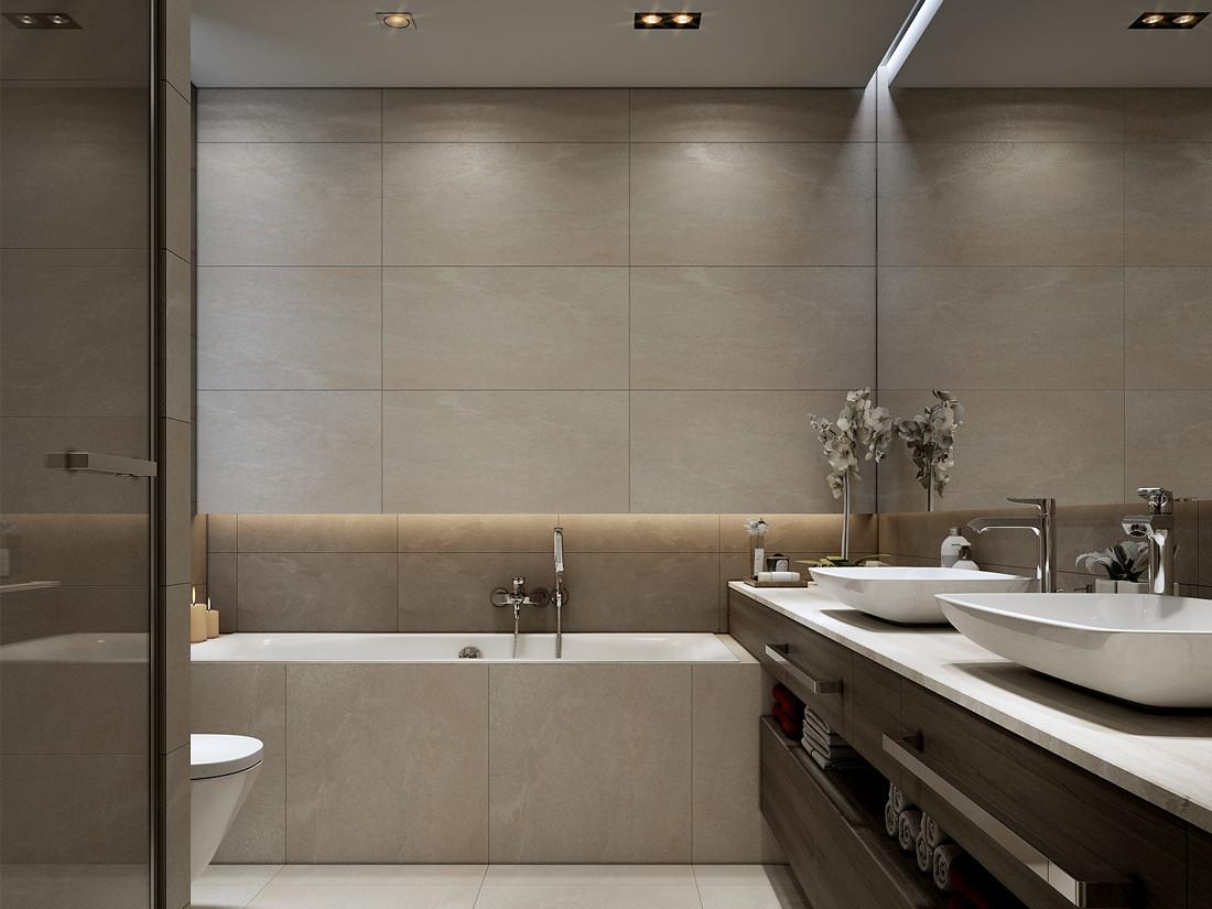 现代公寓卫生间装修设计效果图