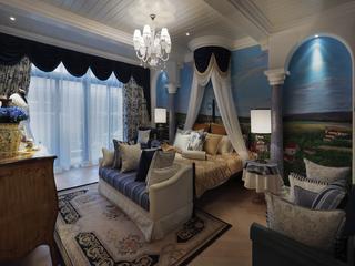 地中海风格别墅卧室每日首存送20
