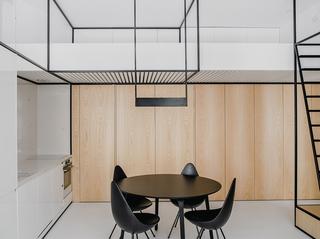 小户型极简公寓装修效果图