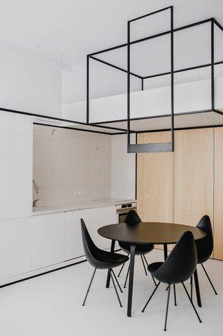 小户型极简公寓厨餐厅装修效果图