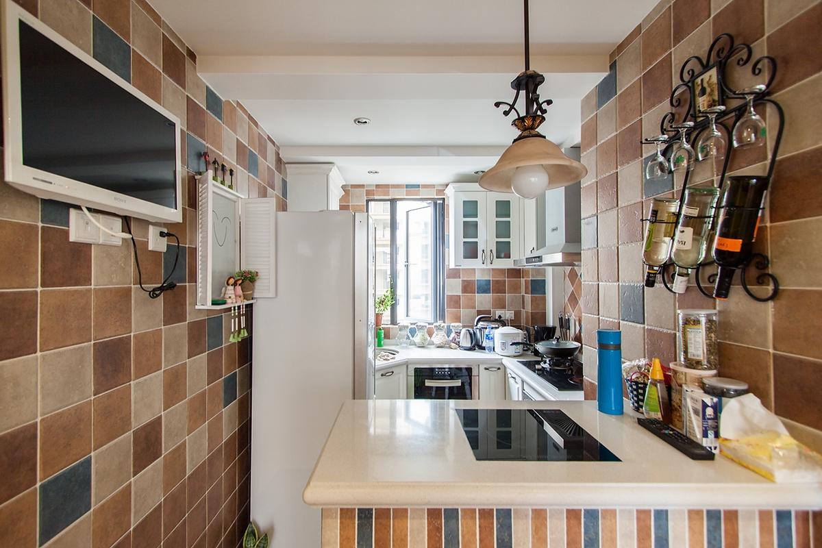 田园风格二居室厨房装修效果图