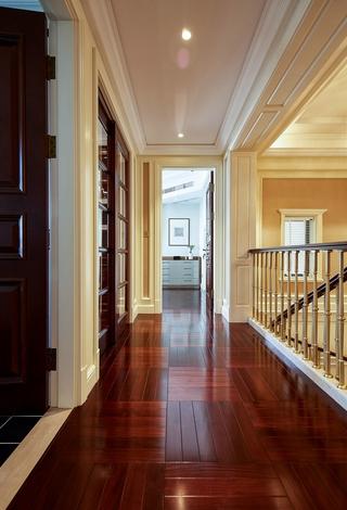 大户型复式现代美式走廊装修效果图